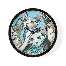 Sphynx Kittens Wall Clock