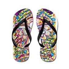 Spring Hearts Cancer Angel Flip Flops