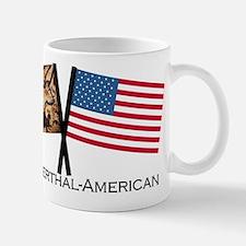 Neanderthal-American Crossed Flags Mugs