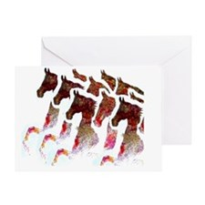 A bunch of Saddlebreds Greeting Card