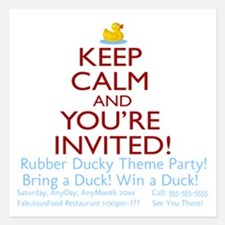 Personalize Keep Calm Any Theme And Graphic! Invitations