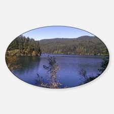 Orcas Island Lake Full, San Juan Is Sticker (Oval)