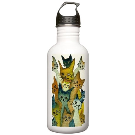 Kalamazoo Stray Cats Stainless Water Bottle 1.0L