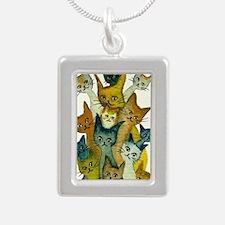 Kalamazoo Stray Cats Silver Portrait Necklace