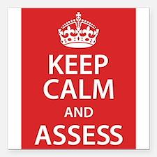 "Assess Square Car Magnet 3"" x 3"""