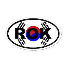 South Korea Flag ROK Oval Car Magnet