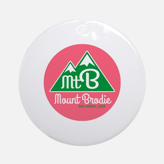 Cute Brodie Round Ornament