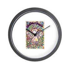 Spring Hearts Cancer Angel Wall Clock