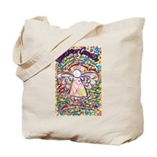 Spring Hearts Cancer Angel Tote Bag