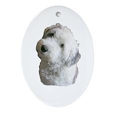 Sheepdog Puppy Oval Ornament