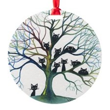 Culpeper Stray Cats in Tree Ornament