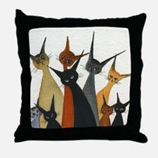 Irvine Stray Cats Throw Pillow