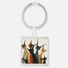 Irvine Stray Cats Square Keychain