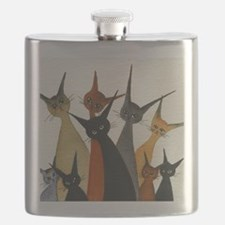 Irvine Stray Cats Flask