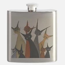 Irvine Stray Cats Flask