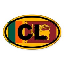 Sri Lanka Ceylon Flag Decal