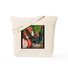 Flamingo Wine Tote Bag