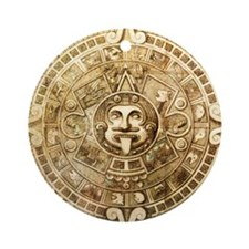 Aztec Design Round Ornament