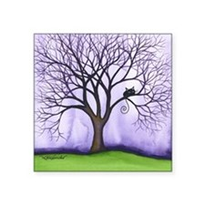"Newton Stray Cat in Tree Square Sticker 3"" x 3"""