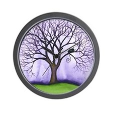 Newton Stray Cat in Tree Wall Clock