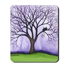 Newton Stray Cat in Tree Mousepad