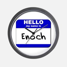 hello my name is enoch  Wall Clock