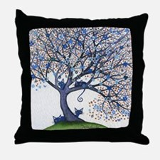 Oregon Stray Cats in Tree Throw Pillow