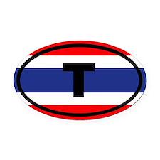 Thailand flag T Oval Car Magnet
