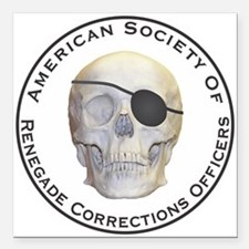 """Renegade Corrections Officers Square Car Magnet 3"""""""