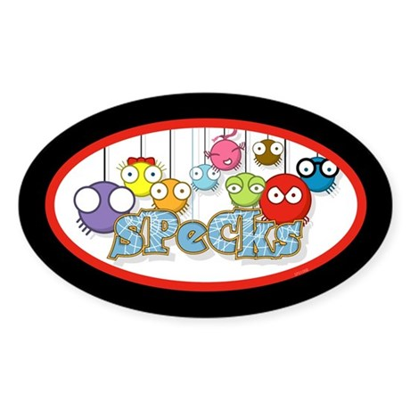 SPeCks Oval Sticker