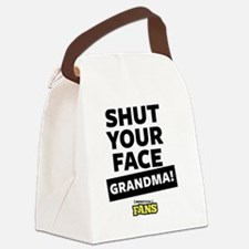 Shut your face grandma! From Impr Canvas Lunch Bag