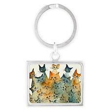 Charlottesville Stray Cats Landscape Keychain