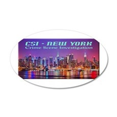 CSI New York Skyline Wall Decal