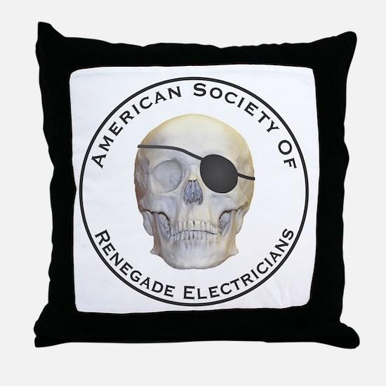 Renegade Electricians Throw Pillow