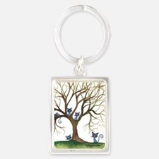 Sedalia Stray Cats in Tree Portrait Keychain