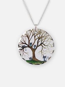 Sedalia Stray Cats in Tree Necklace