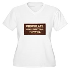 Chocolate Makes Everything Better Plus Size T-Shir