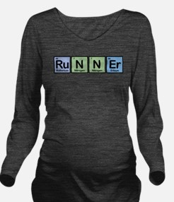 Runner Made of Elements Long Sleeve Maternity T-Sh