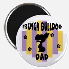"""French Bulldog Dad 2.25"""" Magnet (100 pack)"""
