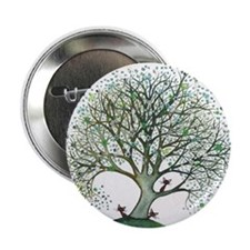 "Montana Stray Cats in Tree 2.25"" Button"