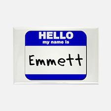 hello my name is emmett Rectangle Magnet