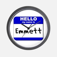 hello my name is emmett  Wall Clock