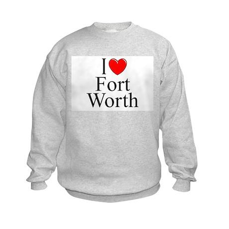 """""""I Love Fort Worth"""" Kids Sweatshirt"""
