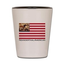 Neanderthal-American Flag Shot Glass
