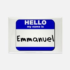 hello my name is emmanuel Rectangle Magnet
