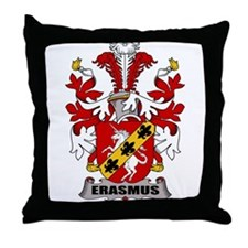 Erasmus Family Crest Throw Pillow