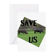 Save the Rhinos Greeting Cards