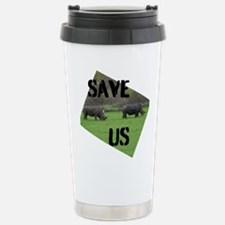 Save the Rhinos Travel Mug