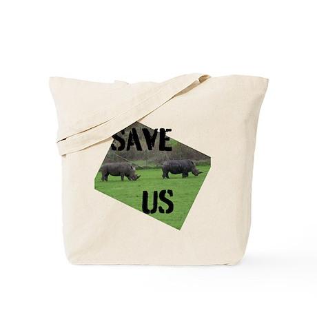 Save the Rhinos Tote Bag