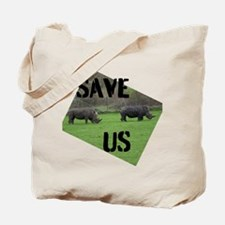Save the Rhinos Tote Bag